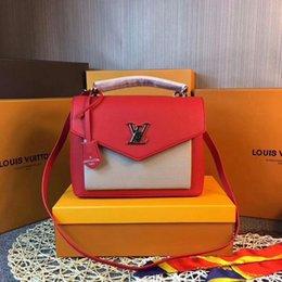 $enCountryForm.capitalKeyWord Australia - 2019 M54877 Fashion Women Classic Red White Shoulder Bags Hobo Handbags Top Handles Boston Cross Body Messenger Shoulder Bags