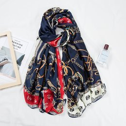 $enCountryForm.capitalKeyWord Australia - 2019 Fashion Beach Shawls Scavesf For Women Printed Silk Neck Scarfs Female 180*90cm Long Stole Neckerchief Scarves For Ladies
