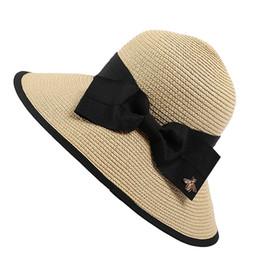 83f2abdb Women's Hat Wide Brim Beach Sun Hat Summer Panama Straw Men Fedora Cap Sun  Visor Cap Male Sombrero Chapeau Femme #Z