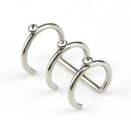 Copper loop earrings online shopping - 1Pcs New Punk Rock Ear Clip Cuff Wrap Earrings C Shape Three Loop No piercing Clip Black Silver Women Men Party Jewelry