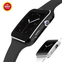 "$enCountryForm.capitalKeyWord Australia - Hot Bluetooth Smart Watch X6 Smartwatch Sport Watch 1.54"" Curved Screen Clock Support Camera SIM Card For Android phone"