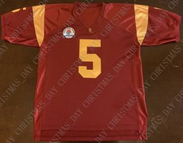 Costura personalizada USC Trojans Reggie Bush Rose Bowl Juego Fútbol Jersey Personalizado personalizado cualquier nombre de número XS-5XL en venta
