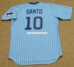 santo jersey NZ - Cheap Custom RON SANTO Stitched Throwbacks Vintage Away Baseball Jersey Retro Mens Jerseys shirt