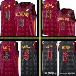 cb842db7948f Cavaliers Kevin 0 Love Collin 2 Sexton Jersey Mens JR 5 Smith Basketball  Jerseys Embroidery Logos Red White Black