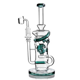 Klein Water Pipes UK - Big Glass Bong Water Pipes Klein Recycler Dab Rigs Smoking Glass Water pipes Oil Rigs With 14mm Banger hookahs shisha