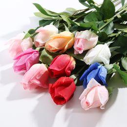 Chinese  Cheap Romentic Home Decor Wedding Supplies PU Artificial Flower Rose Wedding Decoration Home Decorations LOL Wedding Products manufacturers