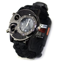 $enCountryForm.capitalKeyWord NZ - 10in1 tactical watch Outdoor Paracord rope survival bracelet Watch Survival Gear compass whistle Reflector lamp flashlight thermometer