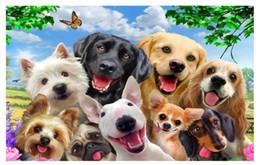 $enCountryForm.capitalKeyWord Australia - Custom 3D Silk Photo Mural Wallpaper Cute cartoon grass on a group of dog selfies like children room background mural wall stickers