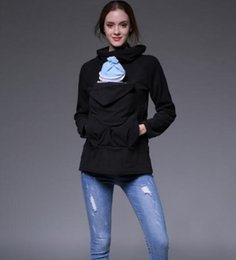 $enCountryForm.capitalKeyWord Australia - 2019 Explosion models women's autumn and winter multi-function kangaroo sweater outside suit childcare bag sweater Sling baby carrier