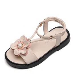 children leather sandals Canada - Fashion 2020 Children Baby Sandals Girls Summer Shoes Sports Kids Beach Leather Sandals for Girls Flowers Princess Shoe
