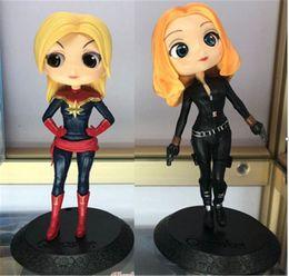 Figures Australia - Avengers Captain Black Widow Harley Quinn PVC Action Figure Justice League Super Hero Wonder Woman Action Figure Toys For Kids
