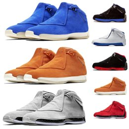 summer suede shoes mens 2019 - Toro Top Mens 18 18s Basketball Shoes Black Blue Suede Cool Grey Yellow Blue Defining Moments Sport Royal XVIII Trainer