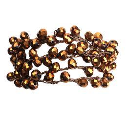 $enCountryForm.capitalKeyWord NZ - Bohemian Sparkling Crystal Multilayer Wrap Bracelet Women Femme 2019 New Fashion Boho Grape Shape Crystals Beads Summer Jewelry