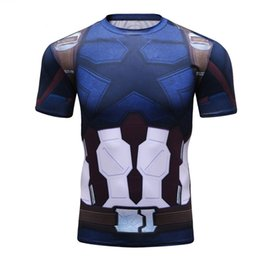 $enCountryForm.capitalKeyWord UK - Avengers 3 Captain America 3d Printed T Shirts Men Compression Shirt 2019 Cosplay Short Sleeve Crossfit Tops For Male Fit Cloth
