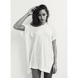$enCountryForm.capitalKeyWord Australia - Beach Baggy Long T Shirt Women Summer Tumblr Harajuku Bts Bt21 Vegan Funny Grunge Sexy Vintage Oversized White Tops Plus Size Y19042501