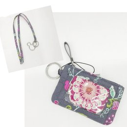 Wholesale Lanyard Card Holders Canada - New arrival Cartoon Id card holder & lanyard coin purse