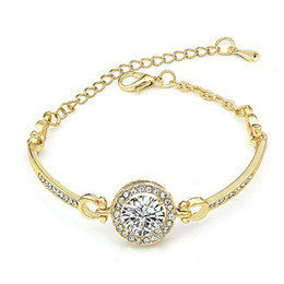 $enCountryForm.capitalKeyWord Australia - European USA Style Fashionable Designer Bracelet Bangles For Women Girls Austria Crystal Rhinestone Rose Gold   Silver Gold   Color