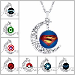 Marvel pendants online shopping - Marvel Avengers Jewelry Men Women Sign Badge Handmade Cosplay Accessories Time Gemstone Pendant Necklace
