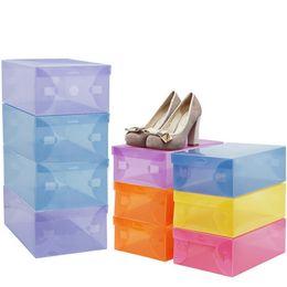 Black Shoe Boxes Wholesale UK - Hot Sale!5PCS Shoe Storage Box Case Transparent Plastic Storage Box Rectangle PP Shoe Organizer Thickened drawer Shoe