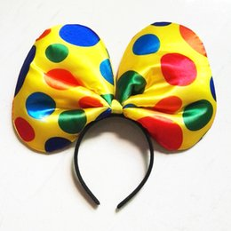 candle baby UK - Giant rainbow dots Clown headband Baby Girl Hairband Kid Headbands Photography Travel Children Hair Accessories Halloween Makeup