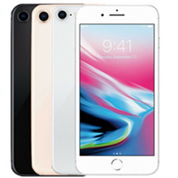 8 inch cell phones UK - Refurbished iPhone 8 with Touch ID 64GB 256GB Unlocked Mobile Phone 4.7 inch Cell Phone Smartphone