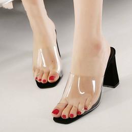 $enCountryForm.capitalKeyWord Australia - Summer Fashion Woman Sandals Shallow Rome Mouth Female Casual Square heel Ladies thick Sandals Shoes White BLACK SIZE 40