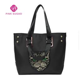 71924308428883 Pink Sugao designer handbags purses women tote bag chain bag travel shoulder  bags cat pattern fashion army color