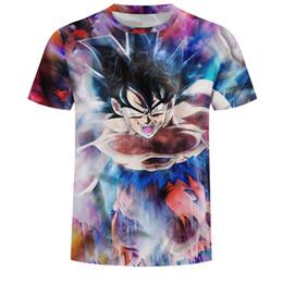d37b510e4 2019 Dragon Ball Super Saiyan T-shirt Anime Dragonball Z 3d Vegeta Comics T  Shirt Men Goku Costume Tees Cartoon Clothes