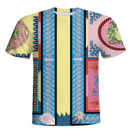 China 2019 Italy Designer Mens T shirts Fashion Casual T shirt Men Tees Tops 3D Medusa Floral Print Short Sleeved Funny T shirts cheap funny animal characters suppliers