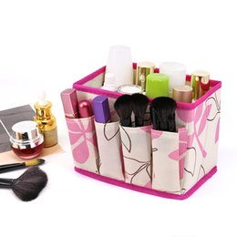 $enCountryForm.capitalKeyWord Australia - wholesale Large Capacity Foldable Make Up Cosmetics Storage Box Container Bag Dresser Desktop Cosmetic Makeup Organizer For
