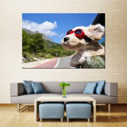 $enCountryForm.capitalKeyWord Australia - Forbeauty Dog Oil Canvas Painting Wall Art Crab Do Crabs Feel Pain Spray Printing Waterproof Ink Home Decor