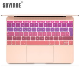 Bar Books Australia - Colorful keyboard film For Mac Book pro 13 Not touch bar 12 Spanish EU Silicone Keyboard Protector Cover Skin Protective Film