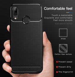 Iphone Cases Soft Silicon Blue Australia - Luxury Phone case For Huawei Mate 10 P30 lite Y6 Y7 Pro P Smart 2019 iPhone Xs Max Xr X 8 7 6 6s Plus Soft Silicon TPU Carbon Fiber Cover