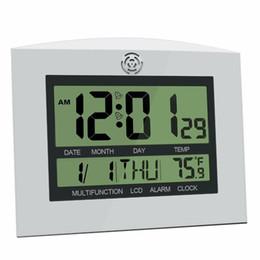 Large Lcd Clocks Australia - Large LCD Digital Wall Clock Table Home Watch Mural Electronic Desk Alarm Clock Temperature Calendar Clocks