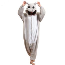 $enCountryForm.capitalKeyWord NZ - Warm Animal Hippo Onesie For Adults Men Women Kugurumi Pajamas Overalls Couple Halloween Party Costume Jumpsuit Night Sleepwear