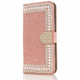 iphone girl silver case Australia - Diamond Bling xs Wallet case for Apple iPhone XS Max XR 8 7 6 5S Plus Flip Kickstand Bumper Couque for Galaxy S9 S9+ S8 S8+ Women Girls