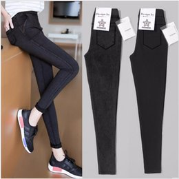 $enCountryForm.capitalKeyWord Australia - Spring New Woman Feet Pencil Thin Section Ankle Length Pants High Waist Leggings Plus Size 5XL Black Casual Y190603
