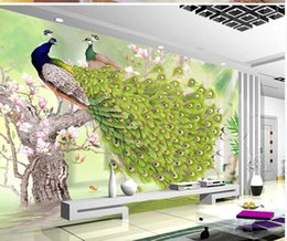 $enCountryForm.capitalKeyWord Australia - 3d murals wallpaper for living room painting green peacock rich flowers and birds Chinese style wall