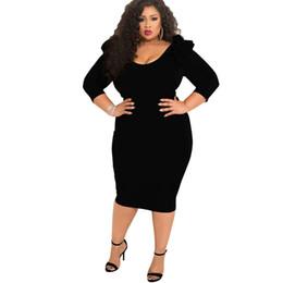 Casual Calf Length Plus Size Dresses Online Shopping | Casual Calf ...