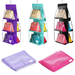 $enCountryForm.capitalKeyWord Australia - 6 Pockets Hanging Handbag Storage Bag Purse Tote Wallet Storage Organizer