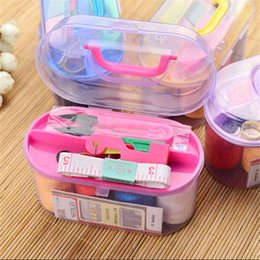 $enCountryForm.capitalKeyWord Australia - Large Sewing Box Set Household Portable 10 Piece Set Mini Tool Sewing Thread Multi-function Sewing Kit