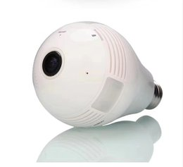 Wireless cameras for home security online shopping - WIFI Doorbell Light Bulb Video IP Camera CCTV Degree Panoramic Fisheye VR Cam For Home Security Wireless Two Way Audio DPHS113S