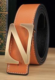 Z Buckle Leather Belt UK - Men&Women Genuine Leather Belt High Quality Designer Belt Unise With Letter Z Buckle Blet Cinturon Belts For Men Women