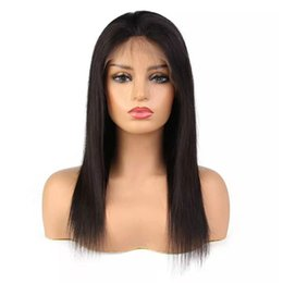 $enCountryForm.capitalKeyWord Australia - Brazilian Virgin Human Hair Full Lace Wigs Natural Straight Unprocessed Raw Wavy Front Lace Wig Real Hair Product Cheap for Sale 8-28inch