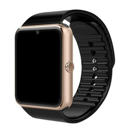 Wholesale smart watch sim card ios iphone for sale - Group buy New Arrival GT08 Smartwatch With SIM Card Slot Android Smart Watch for Samsung and IOS Apple iphone Smartphone Bracelet Bluetooth Watches