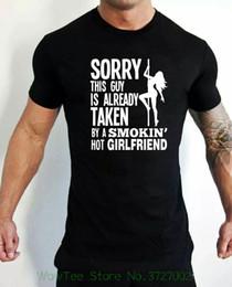 $enCountryForm.capitalKeyWord Australia - Sorry This Guy Is Already Taken By A Smokin Hot Girlfriend Funny Pole Dancer Short Sleeve T Shirt Men