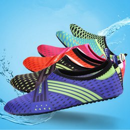 Pink swim shoes online shopping - Water Sports Diving Shoes Kids Adults Anti Skid Beach Socks Breathable Fabric Quick Drying Swimming Surfing Wet Water Shoes ZZA549