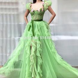 $enCountryForm.capitalKeyWord UK - Tulle Embroidery Evening Dresses 2019 Muslim Arabic Beading Prom Dress Custom Made Turkish Robe De Soiree Party Gowns Dubai New