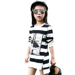 sl dresses 2019 - Kids Dress For Girls Long Sl Cartoon Printed Teenage Girls Party Dress Spring Autumn Children Clothes 4 6 8 9 10 12 14 Y