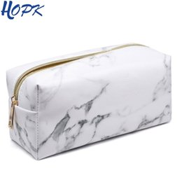 $enCountryForm.capitalKeyWord Australia - Marble Pencil Case for girls Pencilcase Make -Up Storage Delivers Big Cosmetics Bag Pencil Box Pencil School Tools